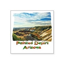 "Color Painted Desert Square Sticker 3"" x 3"""