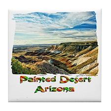 Color Painted Desert Tile Coaster