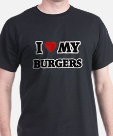 I Love My Burgers food design T-Shirt