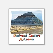 "blue painted desert Square Sticker 3"" x 3"""