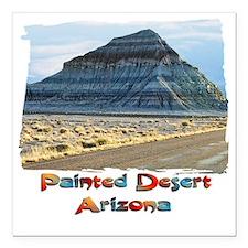 "blue painted desert Square Car Magnet 3"" x 3"""