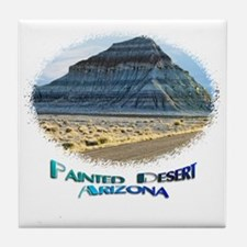Blue Painted Desert Tile Coaster