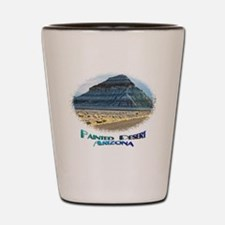Blue Painted Desert Shot Glass