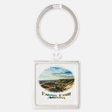 color painted desert Square Keychain