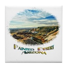 color painted desert Tile Coaster