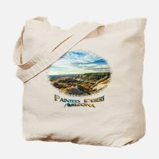 color painted desert Tote Bag