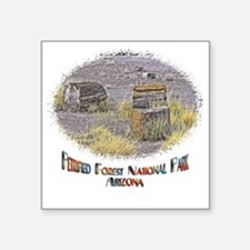 """Petrified Forest Square Sticker 3"""" x 3"""""""