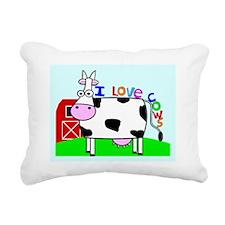 cow puzzel Rectangular Canvas Pillow