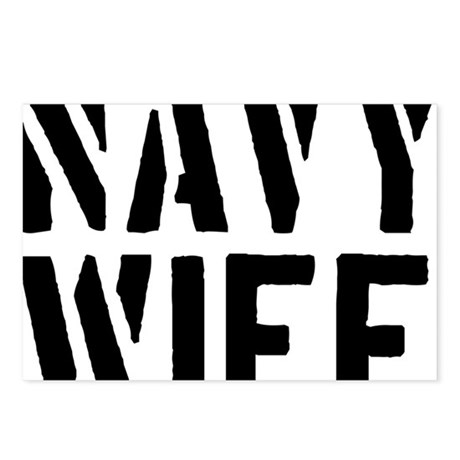navy-wife-01a-black Postcards (Package of 8)