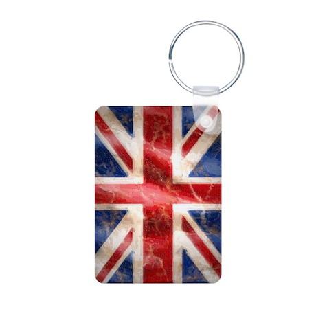 475 Union Jack Flag iPad 5 Aluminum Photo Keychain