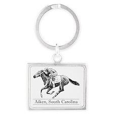 aiken store horse calendar Landscape Keychain