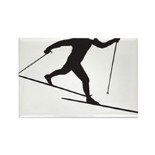 skinny ski blk Rectangle Magnet