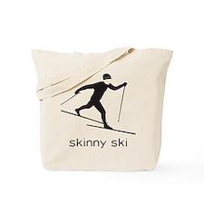 skinny ski blk Tote Bag