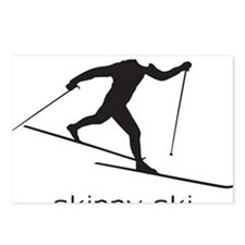 skinny ski blk Postcards (Package of 8)