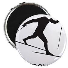 skinny ski blk Magnet