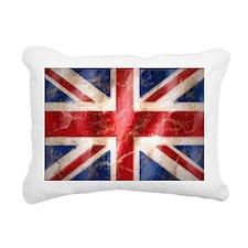 475 Union Jack Flag lapt Rectangular Canvas Pillow