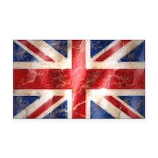 475 Union Jack Flag laptop sk Rectangle Car Magnet