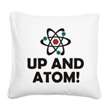 Atom Square Canvas Pillows