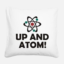 atom Square Canvas Pillow