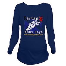 Tartan Army Boys_Com Long Sleeve Maternity T-Shirt