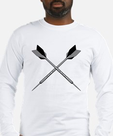 crossed_darts_blk Long Sleeve T-Shirt