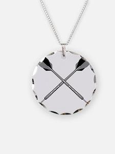 crossed_darts_blk Necklace