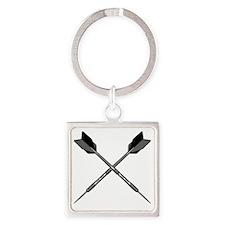 crossed_darts Square Keychain