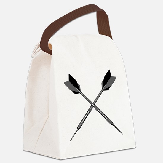 crossed_darts Canvas Lunch Bag