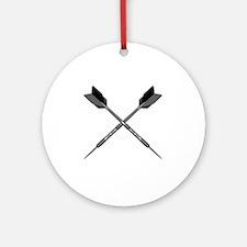 crossed_darts Round Ornament