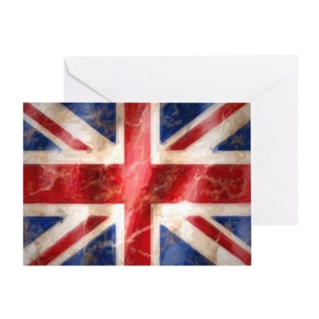 475 Union Jack Flag stadium blanket Greeting Card