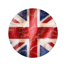"""475 Union Jack Flag puzzle 3.5"""" Button"""