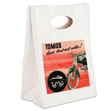 VINTAGE TOMOS MOPED Canvas Lunch Tote