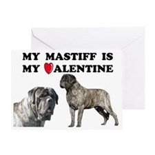 Valentine brindle mastiff Greeting Card