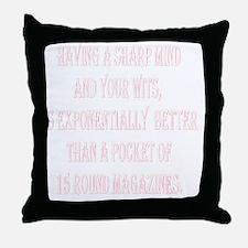 SHARPMIND_WITS_2KX2K_WH.gif Throw Pillow