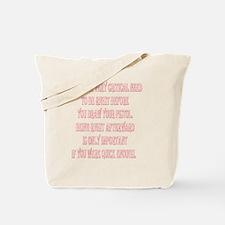 BE_RIGHT_2KX2K_WHITE.gif Tote Bag