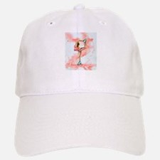 Pretty in Pink Ice Skate Baseball Baseball Cap