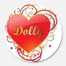 Dolly-Valentines Round Car Magnet