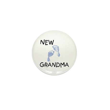 New Grandma (blue) Mini Button (10 pack)