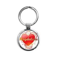 Magdalena-Valentines Round Keychain