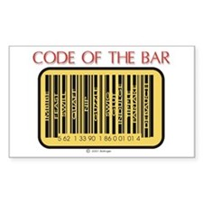Code of the Bar Rectangle Decal