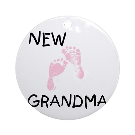 New Grandma (pink) Ornament (Round)