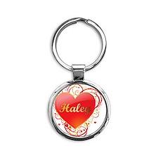 Haley-Valentines Round Keychain