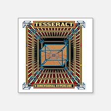 """TESSERACT_HYPERCUBE_c Square Sticker 3"""" x 3"""""""