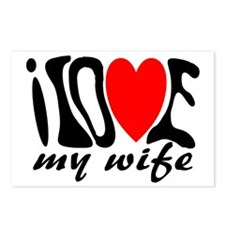 I love my wife heart Postcards (Package of 8)