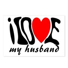 I love my husband heart Postcards (Package of 8)