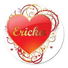 Ericka-Valentines Round Car Magnet