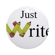 Just Write Ornament (Round)