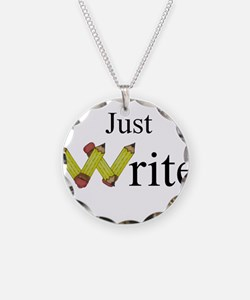 Just Write Necklace