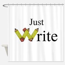 Just Write Shower Curtain