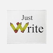 Just Write Throw Blanket